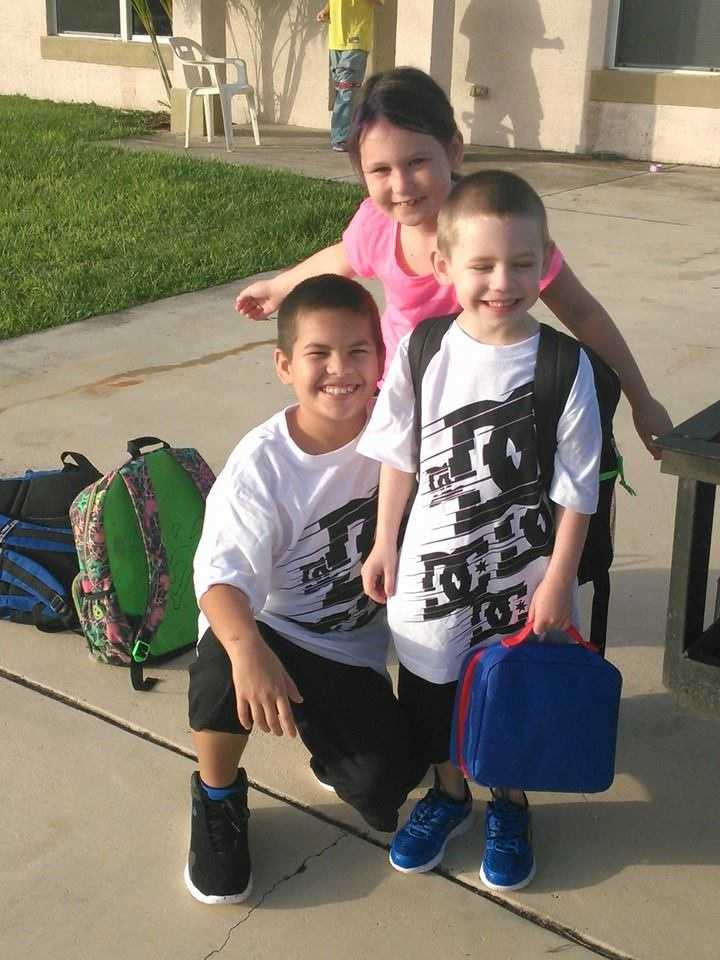 My three babies ready for their first day of school-- From Samantha Thomas