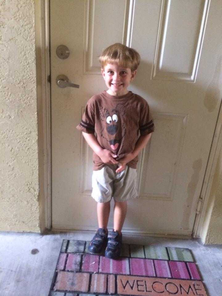 First day of his last year in pre k bitter sweet -- From Brooke Eadicicco