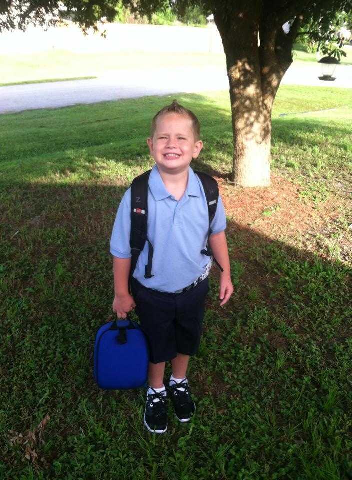 Zachary is heading to kindergarten-- From Teresa Goings