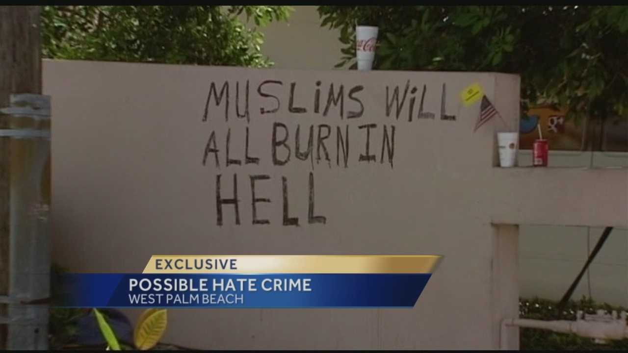 A local business owner admits he is frustrated after he sees hateful words sprayed painted on the wall next to his business.
