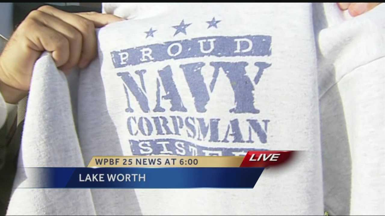 A local mother is outraged after she says her daughter was told she can't wear a sweatshirt in class that supports her sister in the Navy. Reporter Ari Hait has the story.