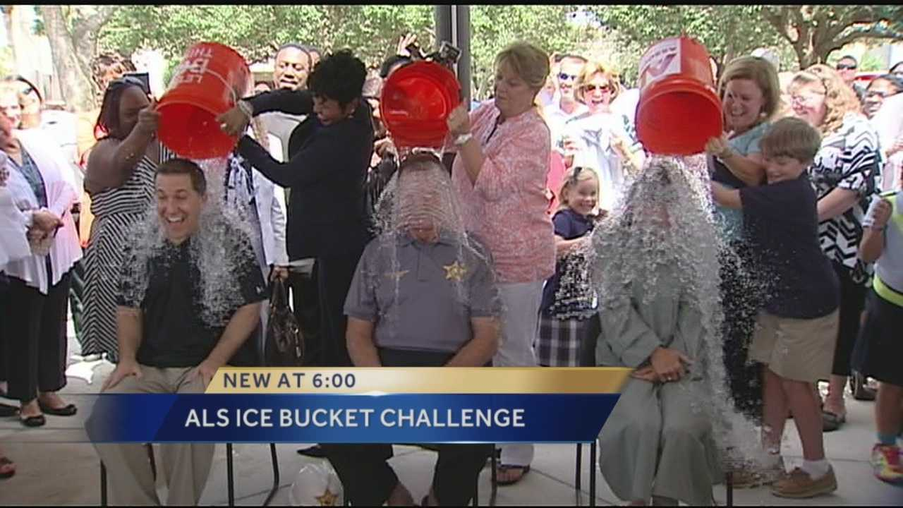 On Tuesday members of the Palm Beach County Sheriff's office took part in the nationwide ALS challenge. Reporter Erin Guy was there for all of the action.