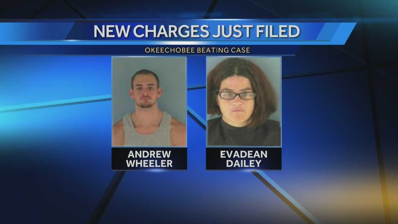 New charges have been filed against Andrew Wheeler and Evadean Dailey. Wheeler is accused of attacking Aaron Hill, a 16-year-old boy with autism, at a Okeechobee house party. Dailey hosted the party where Hill was attacked and beaten -- which was all caught on cellphone video. Reporter Ted White has the latest update.