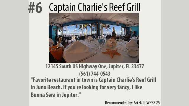 Click here to visit Captain Charlie's Reef Grill's website.