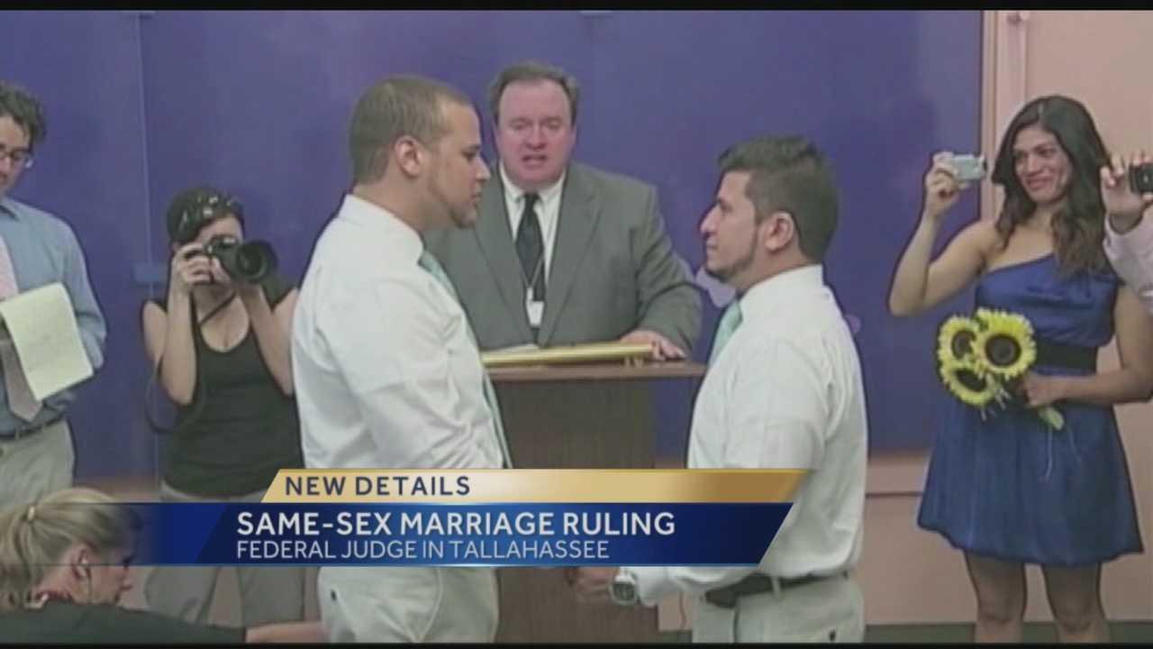 Federal judge strikes down gay marriage ban