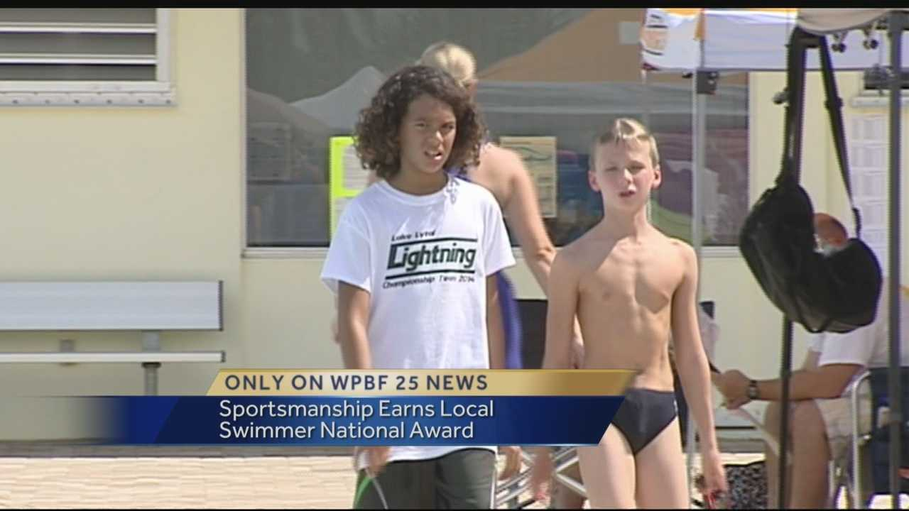 Sportsmanship earns local swimmer national award