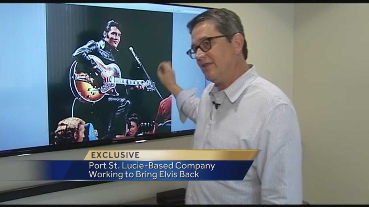 From the company that brought the extraordinary vision of a lifelike Michael Jackson performance to the Billboard Music Awards in May, comes a new challenge -- Elvis Presley. Reporter Terri Parker has the story.