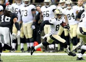 Preston Parker playing for the Saints.