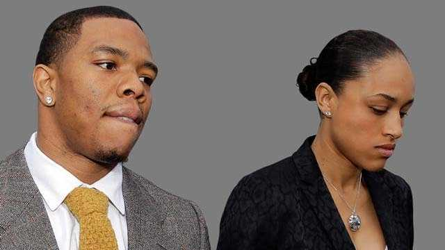 Ray Rice with wife Janay Palmer.