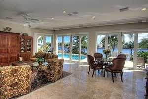 Floor to ceiling windows displays the ocean view.