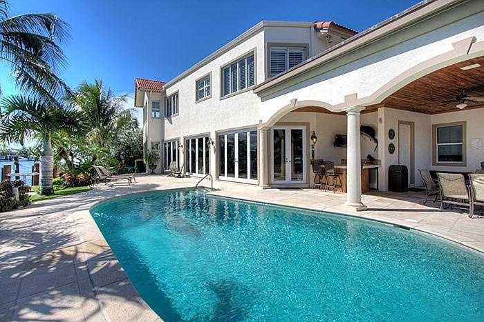Beautiful pool and summer kitchen.