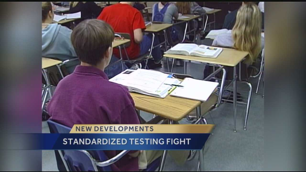 The Palm Beach County School District is drafting a letter to the governor and legislature asking to postpone for three years the latest round of state mandated testing. Terri Parker reports.