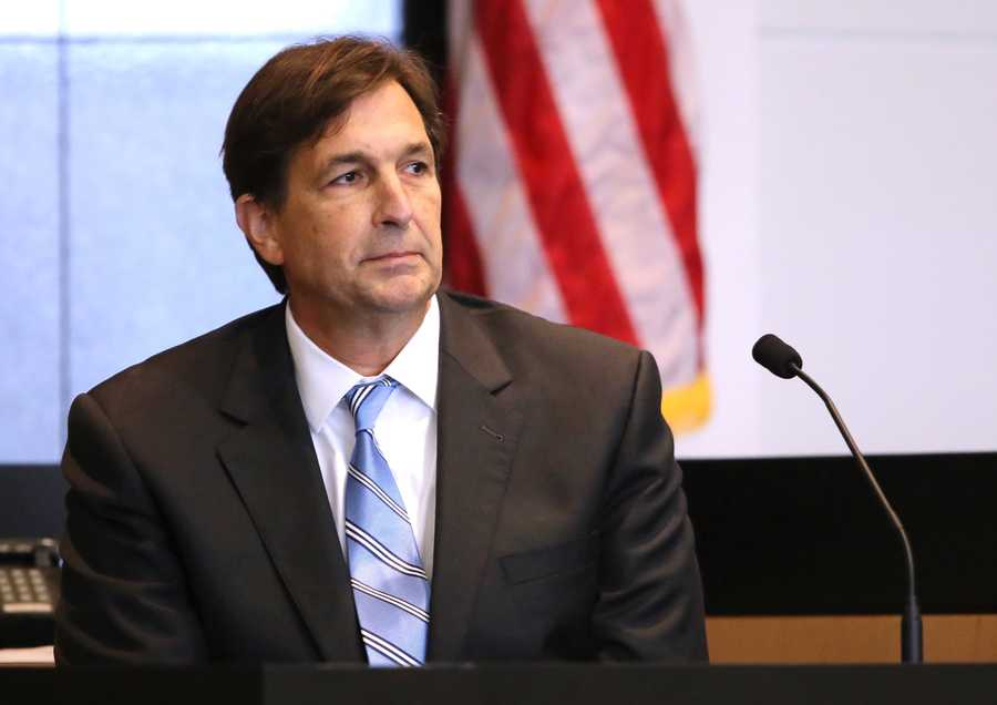 John Goodman testifies on the tenth day of his retrial Wednesday, October 22, 2014. Goodman is charged with DUI manslaughter in the death of Scott Wilson. (Lannis Waters / The Palm Beach Post)
