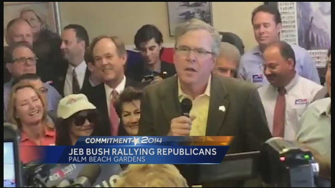 Jeb Bush rallying Republicans ahead of Election Day