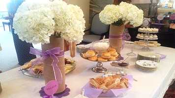 Beautiful table set by Tiffany Kenney.