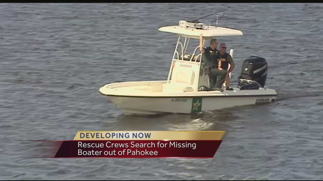 Rescue crews search for missing boater out of Pahokee