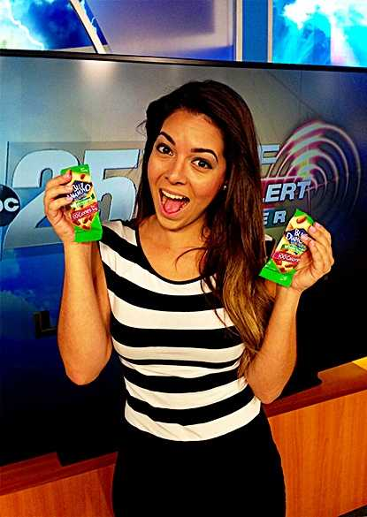 "WPBF 25 Meteorologist Vanessa Vinet's favorite things:""My favorite thing to do is to always have snacks with me and my favorite one is ALMONDS! I always carry more than one pack of almonds with me, it gets me going throughout the day and it is healthy!"""