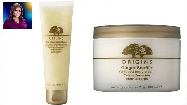 "WPBF 25 Anchor Felicia Rodriguez's favorite things:""I love Origins Ginger Body Souffle and Origins Ginger Body Scrub. It was given to me as a gift a few years back and I use them all the time. It smells deelish and works great!"""