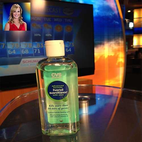 "WPBF 25 Meteorologist Sandra Shaw's favorite things:""I use hand sanitizer at least 10 times throughout the morning show! Only clean weather clickers allowed!"""
