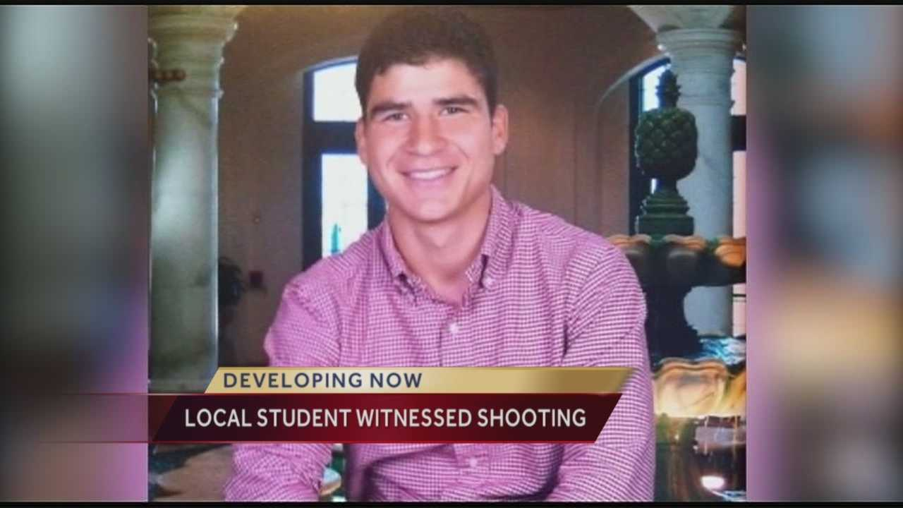 A Fort Pierce native and student at Florida State University said he thought he was going to die when a gunman stormed through the campus library during an overnight shooting rampage.