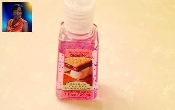 "WPBF 25 Reporter Angela Rozier's favorite things:""I love my S'mores hand sanitizer, it smells so good."""