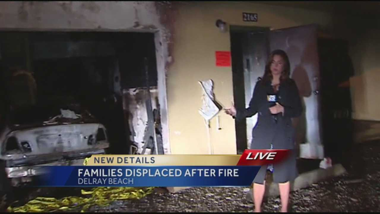 Officials with Delray Beach Fire Rescue said a two-alarm fire displaced 16 people Sunday morning. Reporter Whitney Burbank was on scene.