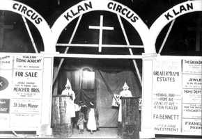 Ku Klux Klan circus held in Miami in 1925.