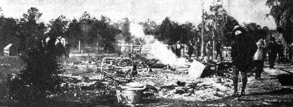 The ruins of the house near Rosewood in which 20 armed African Americans fought off a group of white men searching for a black man who, it is said, had attacked a white woman.