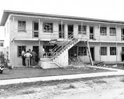 Carver Village bombing of 1951 in Miami. Formerly a white housing community, Carver Village was opened up to African Americans in August, 1951. Dynamite was used to bomb the facility.