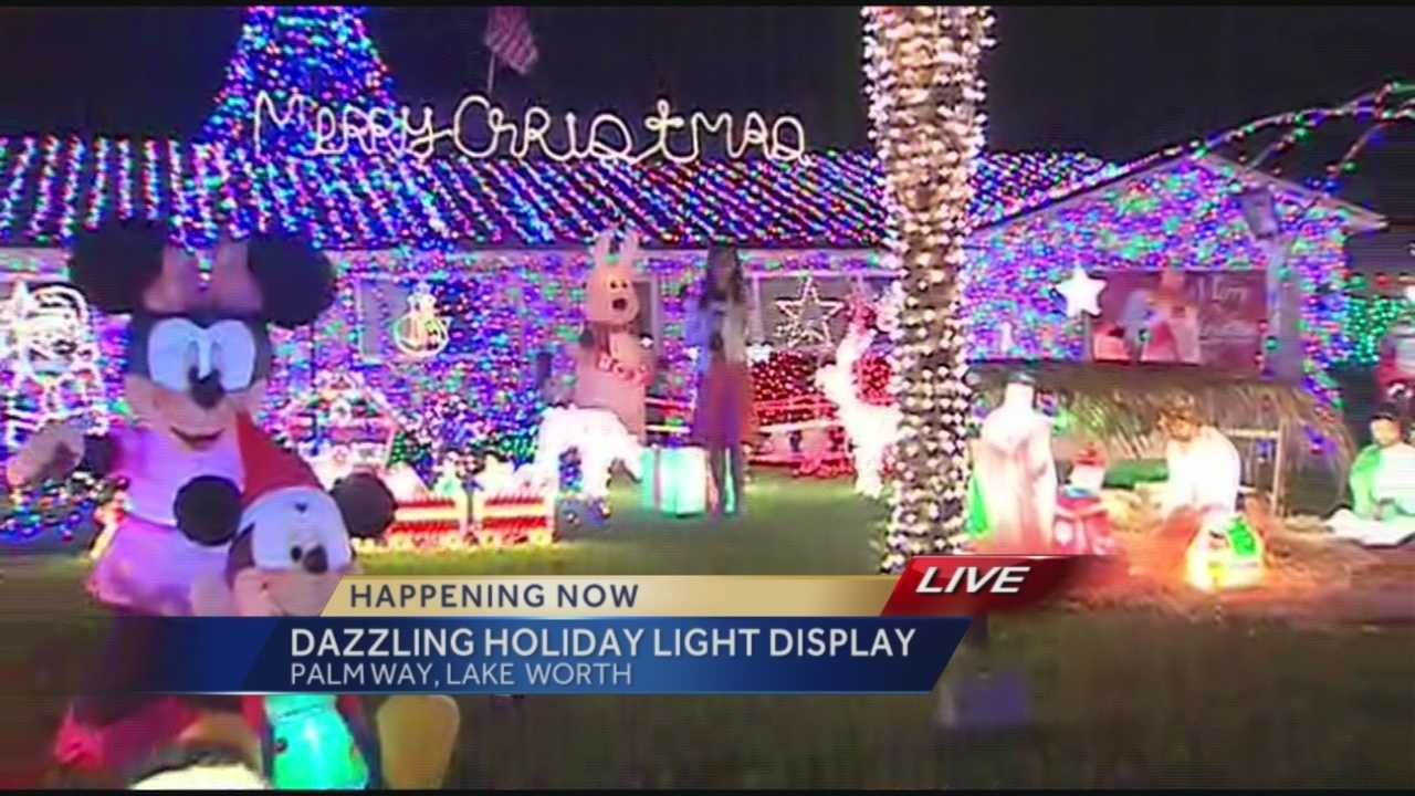 After weeks of decorating -- a Lake Worth family is lighting up their neighborhood with an impressive, dazzling lights display for the holidays. Whitney Burbank has their story.