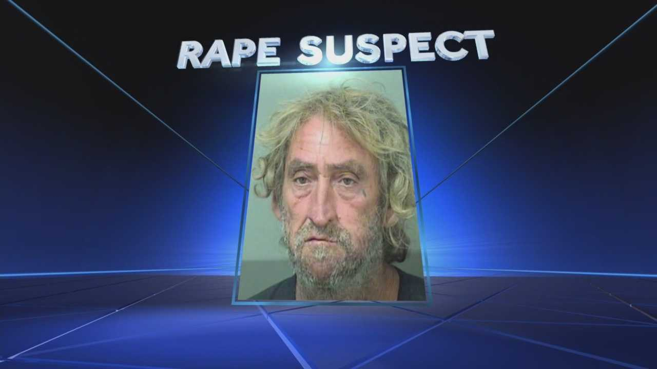 Authorities arrested a homeless man Thursday on suspicion of raping a 15-year-old girl in John Prince Park in Lake Worth. Robert Wardrup, 56, was charged with lewd/lascivious battery and false imprisonment. The victim told police she was fishing alone on Thursday when Wardrup grabbed her arm, dragged her into the woods and raped her.