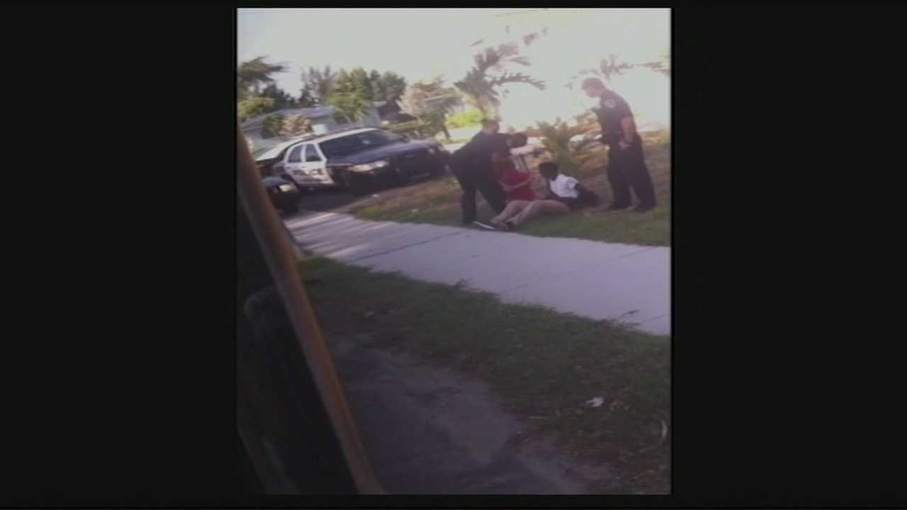 A Boynton Beach police officer was suspended for two days and another received a written reprimand after an internal affairs investigation of alleged excessive force used on a 13-year-old boy back in May, police said.