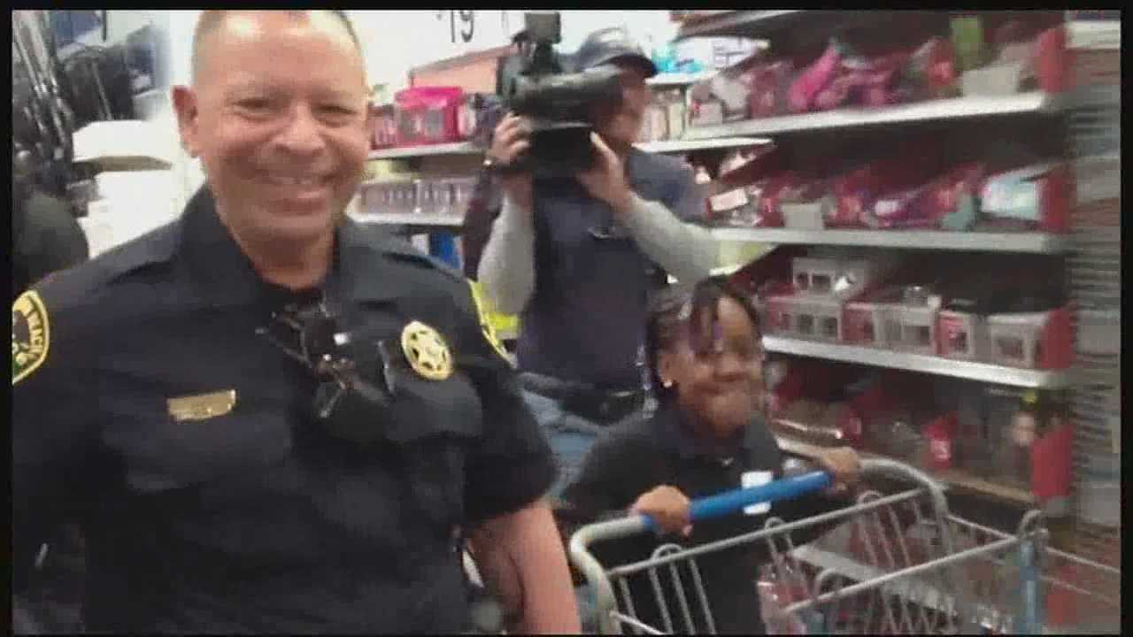 "Nearly 100 children teamed up with Boynton Beach police for the 9th annual ""Shop with a Cop."" The program gives needy children in our area $100 dollars to shop for holiday presents at local area Walmart stores."