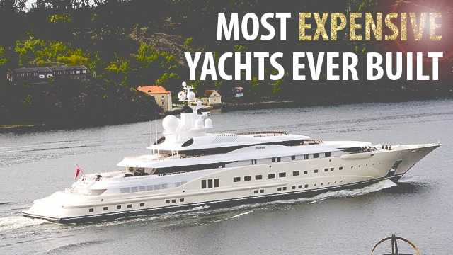 Welcome to the world of super yachts. Check out these luxury liners which start at $90 million and go up to $4.8 billion dollars!