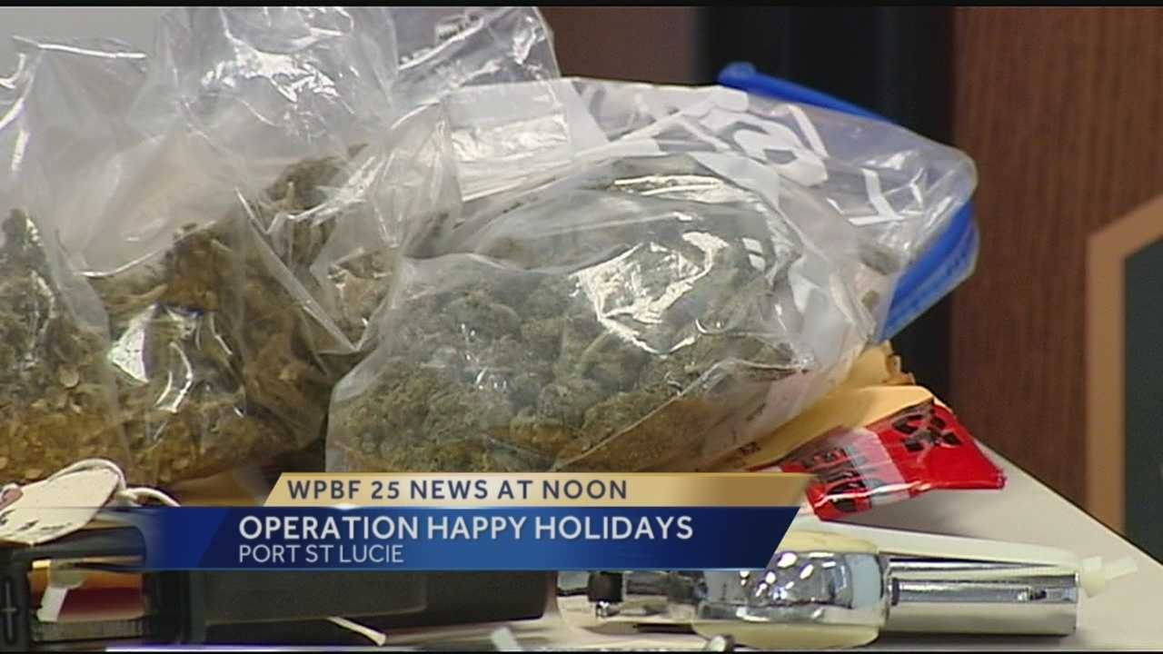 Police in Port St. Lucie arrested 56 people on a wide range of charges during a three month investigation into drugs and prostitution. Operation Happy Holidays, as its called, is now in its third year and more successful than ever.