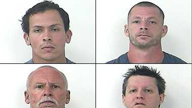 Police arrested 8 individuals related to this case. Shown here are 4 of the 8 individuals arrested. The other arrestees are currently being processed and booked into the St. Lucie County Jail.