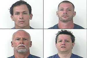 Police arrested 8 individuals related to this case. Shown here are 4 of the 8 individuals arrested.The other arrestees are currently being processed and booked into the St. Lucie County Jail.