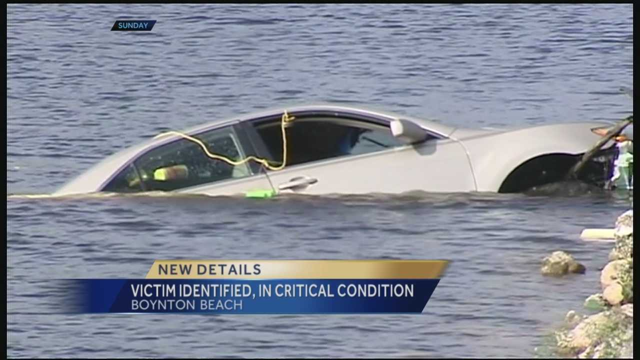 An elderly woman was rescued Sunday after authorities said she drove her car into a canal in Boynton Beach. The crash happened in the 1000 block of West Orange Drive.