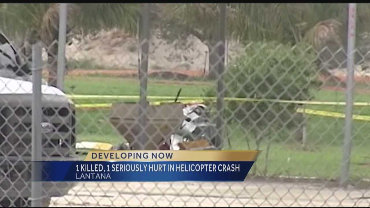 Palm Beach County Fire Rescue crews are on scene of a deadly helicopter crash near the Lantana airport and John Prince Park.