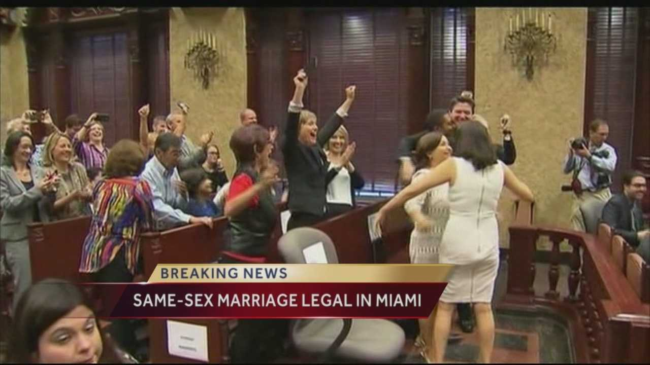 Reaction to the historical moment in Florida history as a Miami-Dade judge eliminated the final road block for same-sex couples -- lifting the stay that had been upholding the ban on gay marriage in place. That is now over effectively and it clearly the way for same-sex couples to start getting married immediately in Mimai-Dade county. Same-sex couples in the rest of the state must want until midnight, Jan. 6, to tie the knot.
