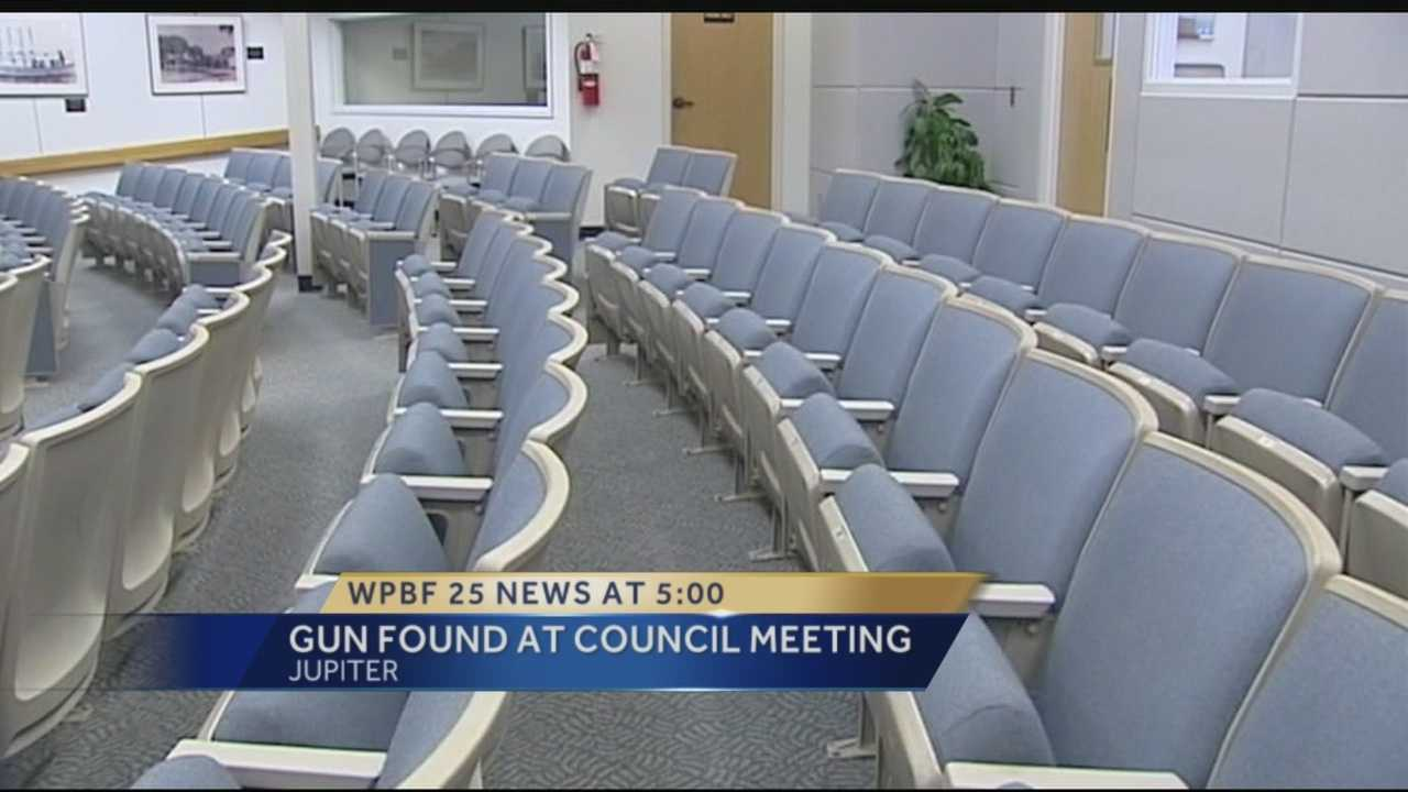 A town council meeting took a frightening turn when an audience member found a handgun in the seats. The incident happened Tuesday night at Jupiter's Town Council meeting.