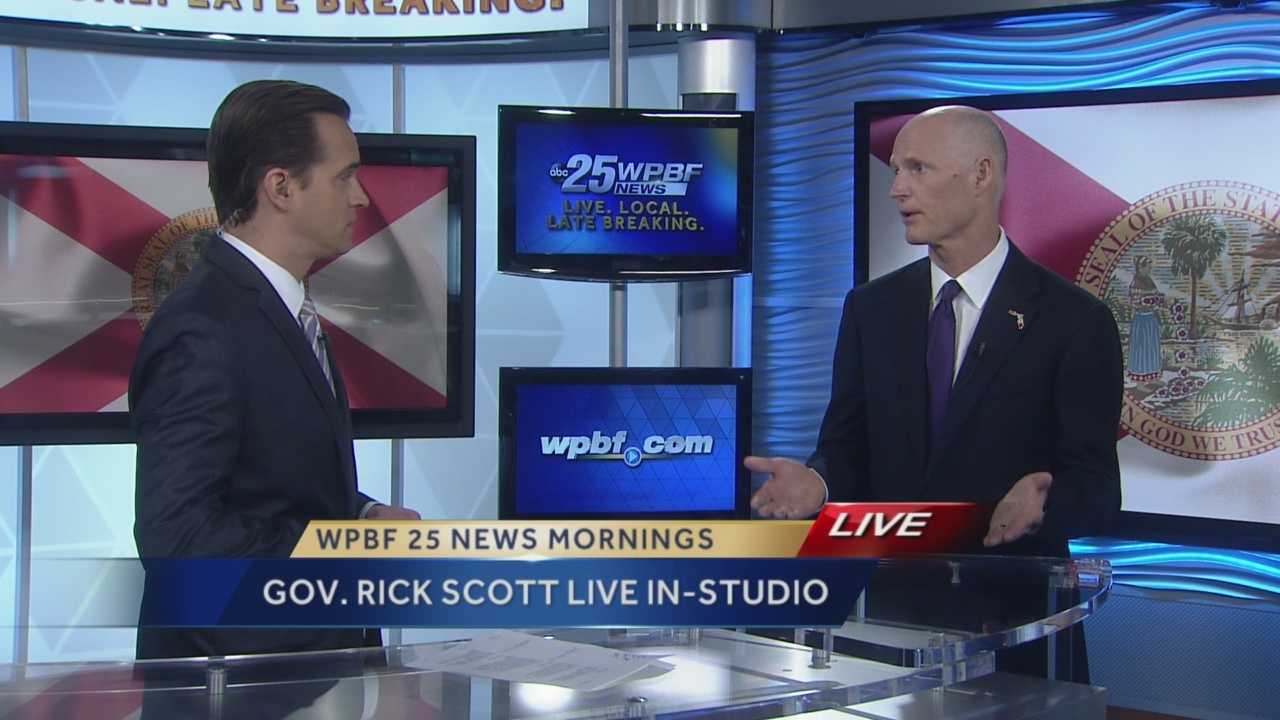 Gov. Rick Scott stopped by our WPBF 25 News studio Friday to talk with Paul LaGrone on the economy of Florida, gay marriage in Florida, Cuba and the Paris terror attack and what is being done here in our state to protect Floridians.