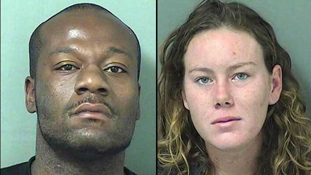 Ramon Mitchell (left), 29, and Erin Bird (right), 18, are facing charges of lewd and lascivious behavior, and trespassing and auto burglary.