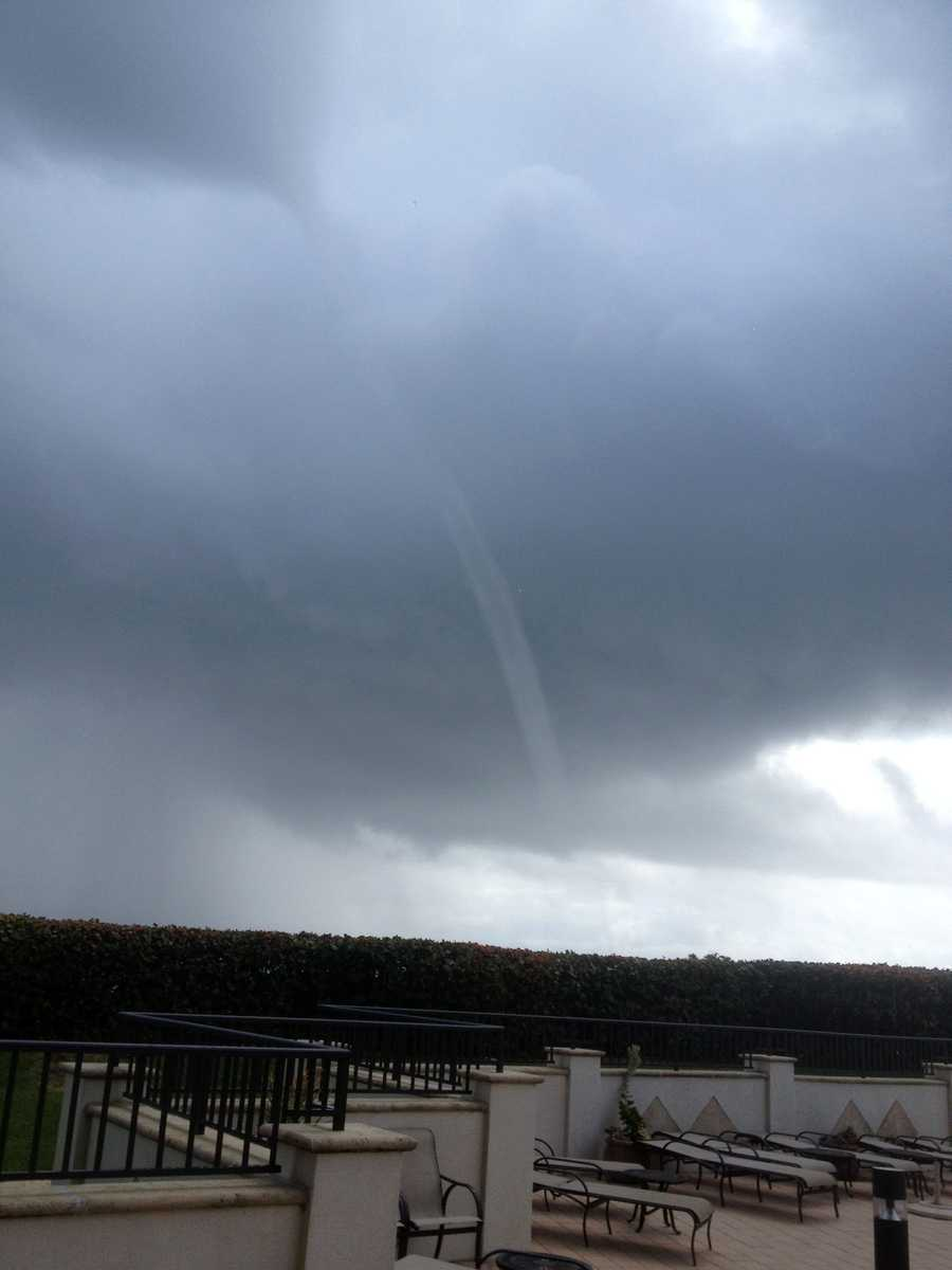A waterspout was spotted Friday in Palm Beach Gardens and Juno Beach. See images sent in by our viewers!