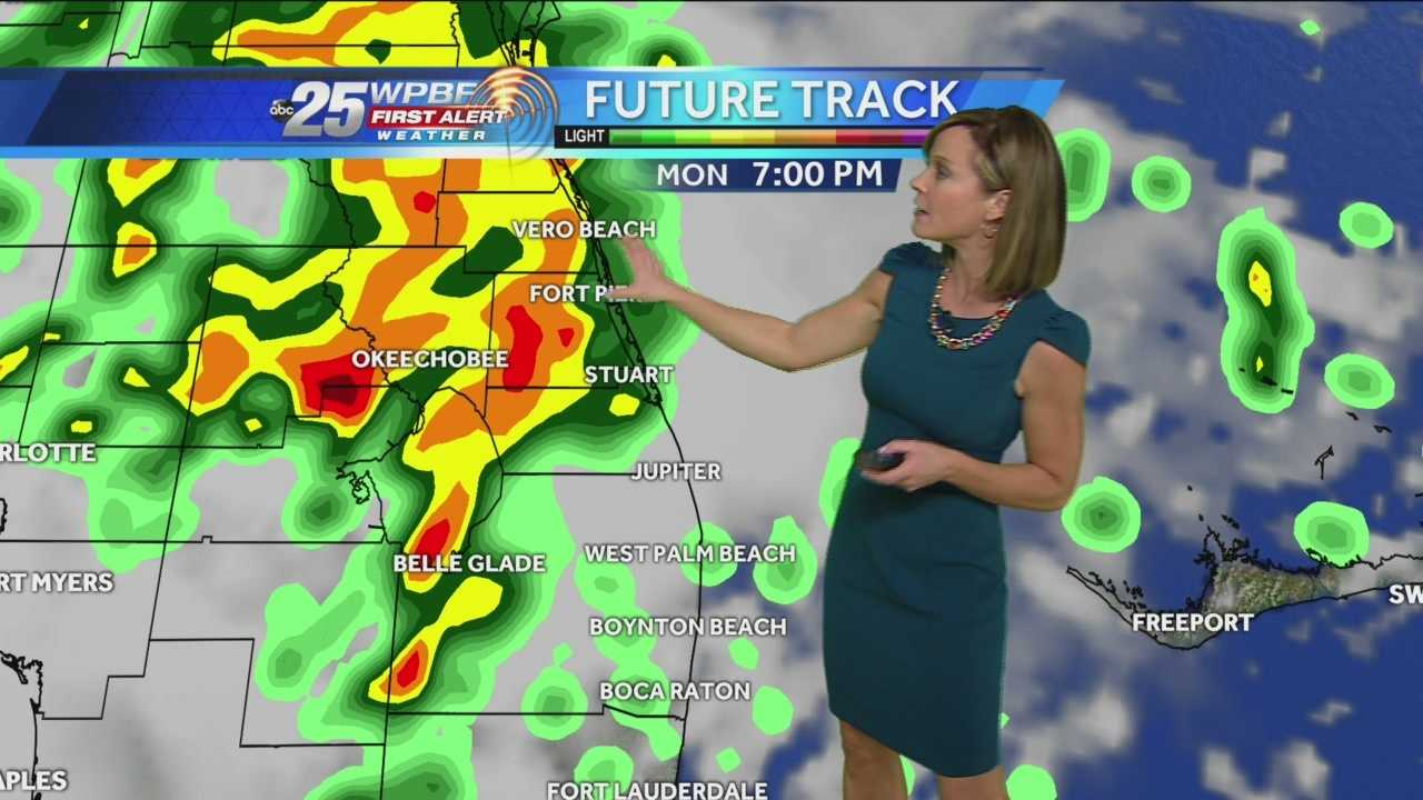 Today will be quite humid and mostly cloudy with highs around 80 & good chances of some heavy downpours late this afternoon and into tonight. The peak of the cluster of showers will hit between 6-9 p.m. as a disturbance moves in from the Gulf with a southwest flow.  An isolated storm isn't out of the question either. The moisture will linger through much of the week with chances of showers each day. By Friday, though a cold front clears. That's a prelude to a nicer weekend with abundant sun, highs in the 70