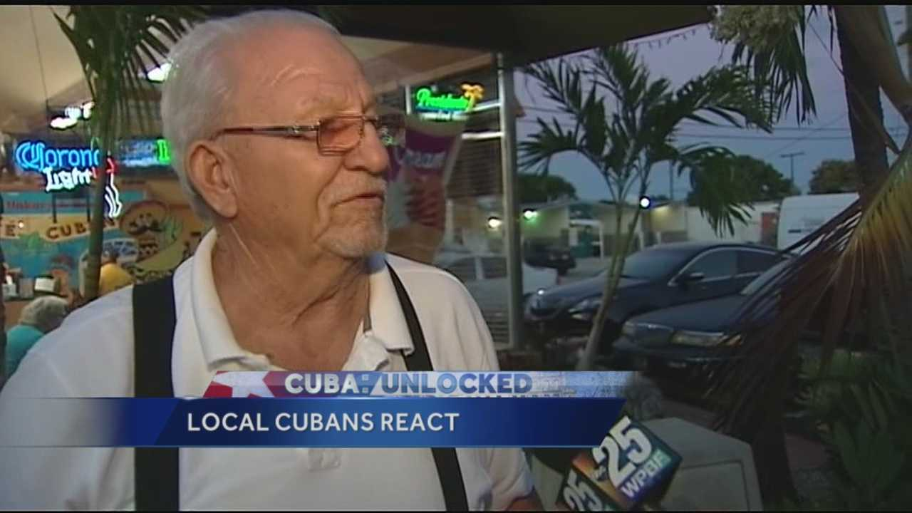 Local residents talk about the arrival of U.S. officials in Cuba.