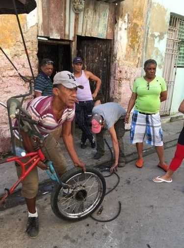 "They call him ""professor"" in Havana. Was a teacher. Now bike-taxi. Fired for anti-Castro leanings. (Tweet and photo via Todd McDermott.)"