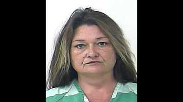 Lorena Sullivan Simpson faces charges of child abuse and was booked in the St. Lucie County jail.