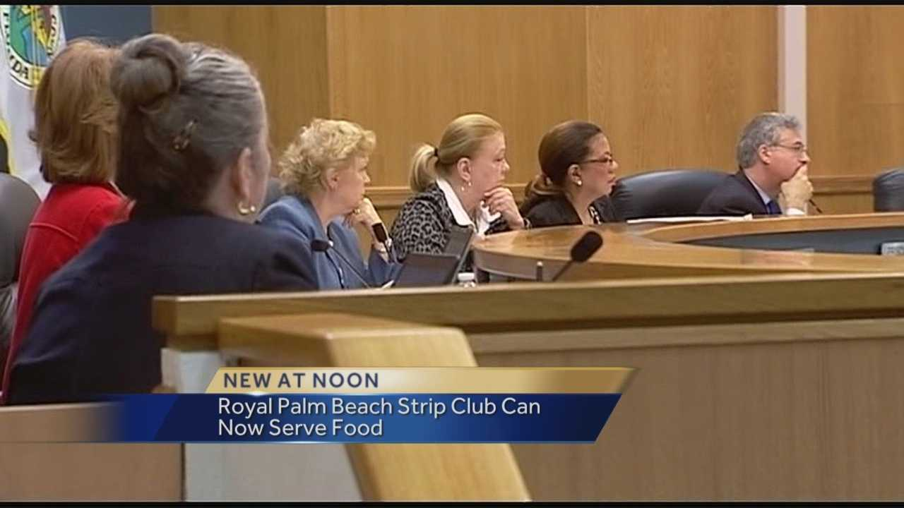 The Palm Beach County Commission approved a zoning change Thursday, allowing a proposed strip club to serve food in Royal Palm Beach. Commissioners voted 5-2 in favor of the measure despite strong opposition from neighbors along Southern Boulevard who showed up to the hearing to voice their concerns.