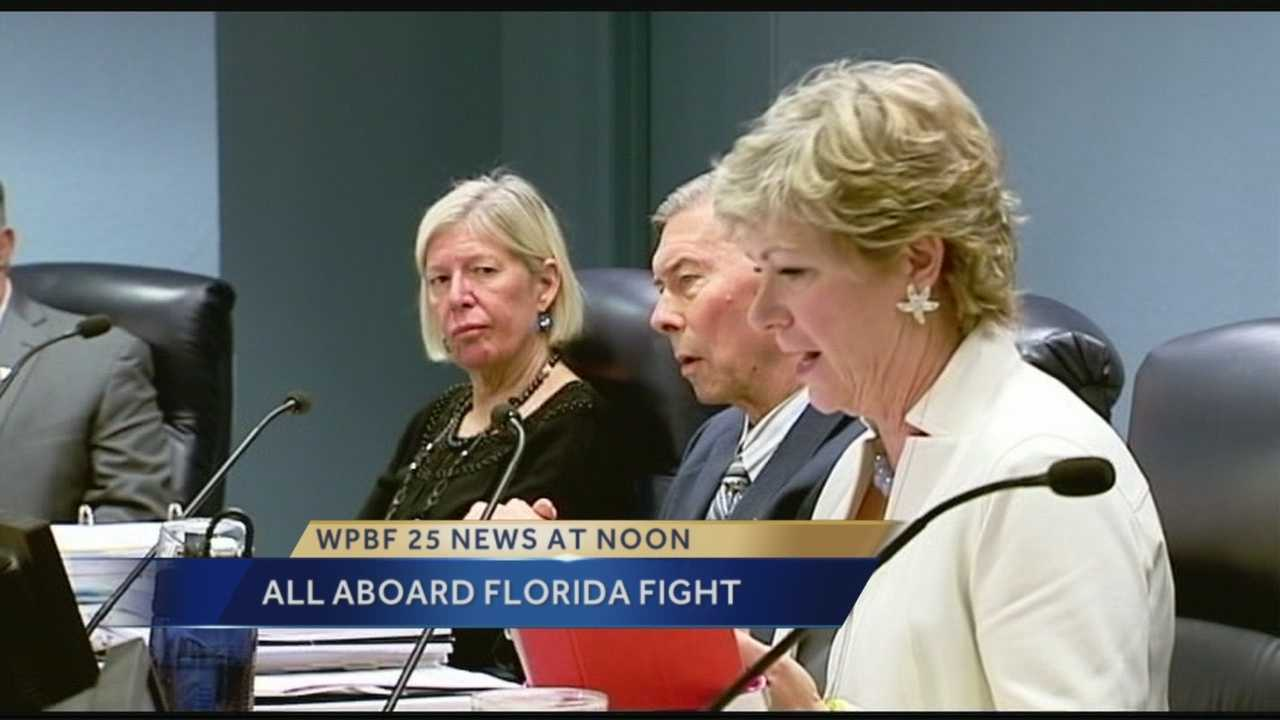 Martin County commissioners voted unanimously Tuesday to allocate $1.4-million from reserve funds to fight All Aboard Florida.
